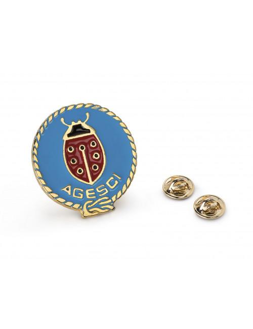 Distintivo Promessa Coccinella Agesci metallo smaltato (maglione)